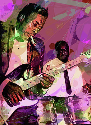 Painting - Buddy Guy 1965 by David Lloyd Glover
