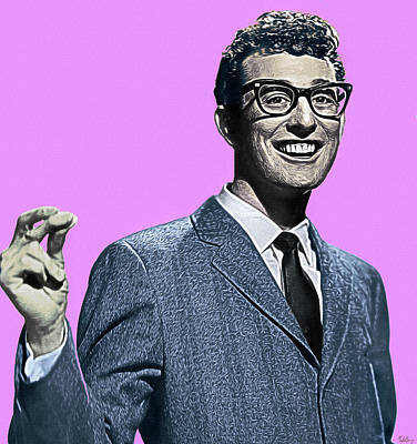Royalty-Free and Rights-Managed Images - Buddy Holly by Mal Bray
