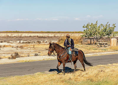 Photograph - Buffalo Soldier 2018 - Allensworth State Historic Park by Gene Parks