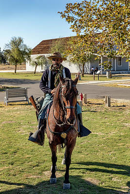 Photograph - Buffalo Soldier 2018 - Allensworth State Park Annual Jubilee Celebration by Gene Parks