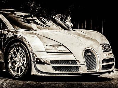 Photograph - Bugatti Legend - Veyron Special Edition -0844s45 by Jill Reger