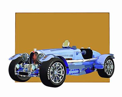 Digital Art - Bugatti Phoenix by Jan Keteleer