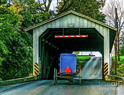 Photograph - Buggy On The Bridge by Nick Zelinsky