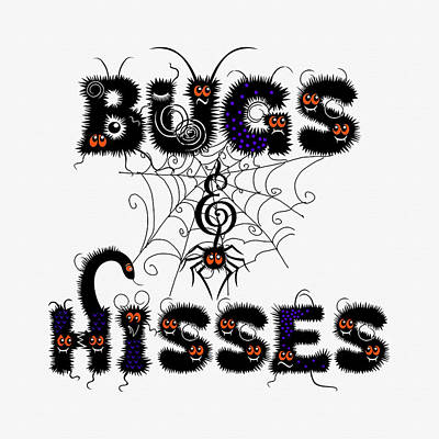 Travel - Bugs and Hisses Cute Halloeen by Doreen Erhardt