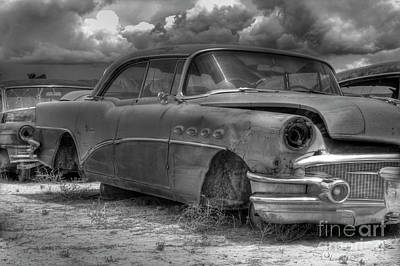 Photograph - Buick Super - Bw by Tony Baca