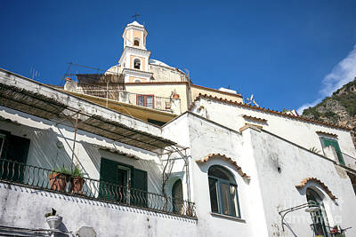 Photograph - Building Angles In Positano by John Rizzuto
