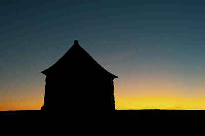 Target Threshold Nature Royalty Free Images - Building Silhouette at Sunset Royalty-Free Image by Helen Northcott
