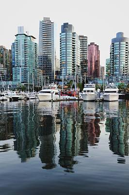 Photograph - Buildings And Yacht Club Of Vancouver by Carlina Teteris