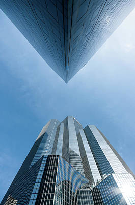 Buildings Face To Face Art Print by © Philippe Lejeanvre