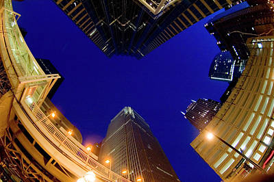Ken Ilio Photograph - Buildings, Low Angle View by By Ken Ilio