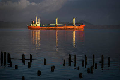 Photograph - Bulk Carrier Ship by Robert Potts