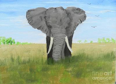 Painting - Bull Elephant by Pamela Meredith