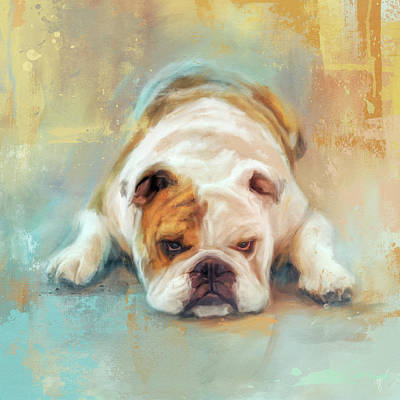 Painting - Bulldog With The Blues by Jai Johnson