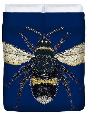 Digital Art - Bumblebee Bed Spread by R  Allen Swezey