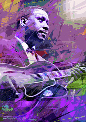 Jazz Painting Royalty Free Images - Bumpin Wes Montgomery Royalty-Free Image by David Lloyd Glover