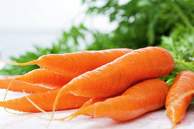 Bunch Of Fresh Carrots, Close Up Art Print by Westend61