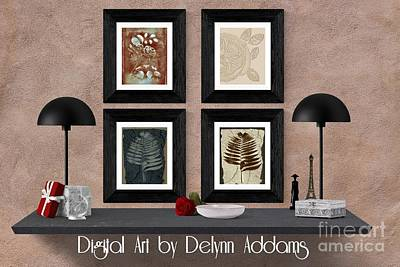 Digital Art - Bundle Of Four Fossil Wall Art By Delynn Addams by Delynn Addams