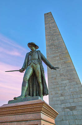 Photograph - Bunker Hill Monument And William Prescott by Juergen Roth