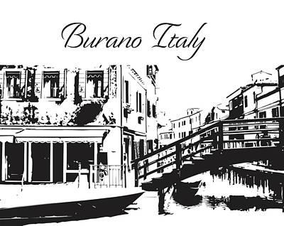 Photograph - Burano Italy Silhouette  by John McGraw