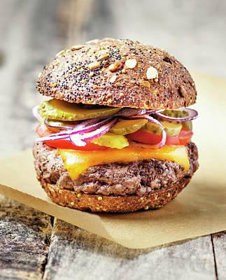 Burger Art Print by Claudia Totir