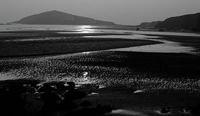 Photograph -  Burgh Island Black And White by Helen Northcott
