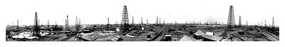 Photograph - Burk-waggoner - Oil Field 1919 by Doc Braham