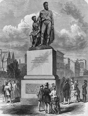 Burke And Wills Statue Art Print by Hulton Archive