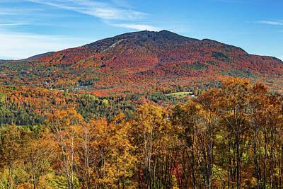 Roaring Red - Burke Mountain Peak Foliage by Tim Kirchoff