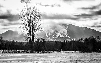 Photograph - Burke Mountain Snowmaking Bw by Tim Kirchoff