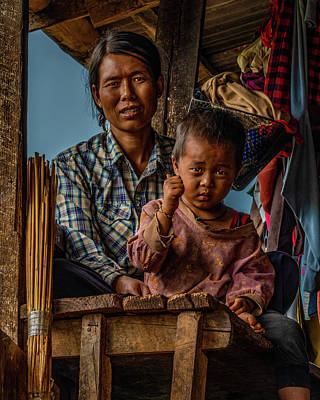 Photograph - Burmese Mother And Child by Chris Lord