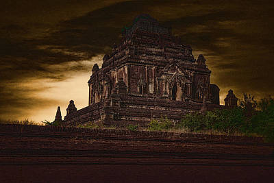 Photograph - Burmese Stupa At Sundown by Chris Lord