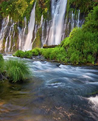 Photograph - Burney Falls by Leland D Howard
