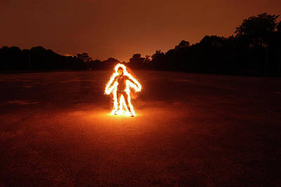 Photograph - Burning Boy by Bertrand Demee