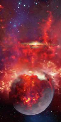 Digital Art - Burning Planet by Don White Artdreamer