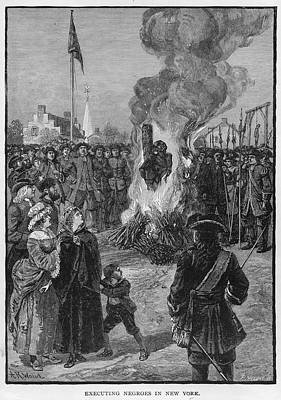 Burning Slaves At The Stake Art Print by Kean Collection