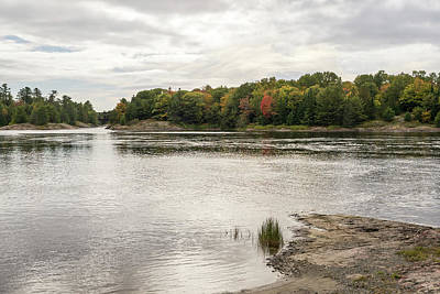 Photograph - Burnished Silver Current - Mississagi River Autumn by Georgia Mizuleva