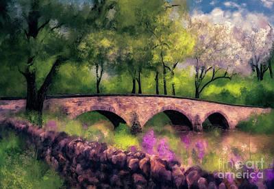 Digital Art - Burnside Bridge In Spring by Lois Bryan