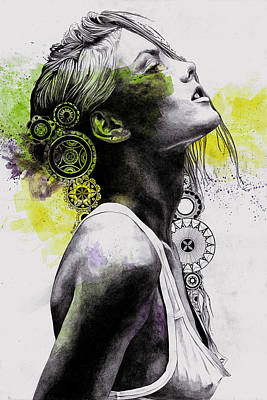Burnt By The Sun - Street Art Woman Portrait With Mandalas Original