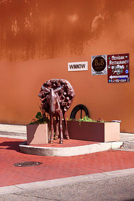 Photograph -  Burro Alley In Santa Fe by Chris Smith