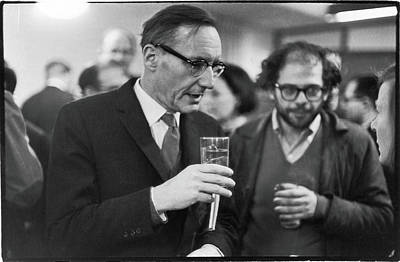Talking Photograph - Burroughs & Ginsberg At Grove Press by Fred W. McDarrah