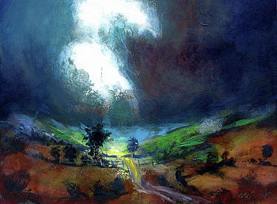 Wall Art - Painting - Burst Of Light by Neil McBride