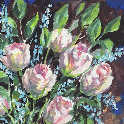 Painting - Burst Of Roses Floral Impressionism  by Irina Sztukowski