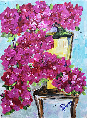 Pink Painting - Bursting With Blooms by Roxy Rich