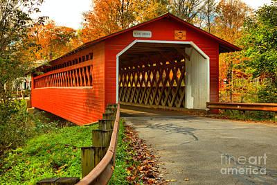 Photograph - Burt Henry Covered Bridge by Adam Jewell