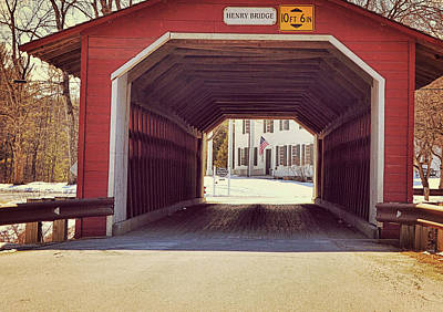 Photograph - Burt Henry Covered Bridge by JAMART Photography