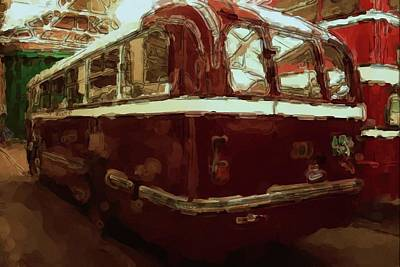 Digital Art - Bus 101 Painting by JLowPhotos
