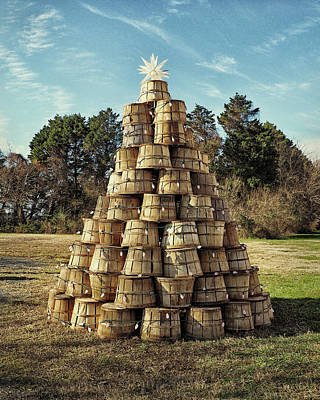 Photograph - Bushel Basket Christmas Tree by Bill Swartwout Photography