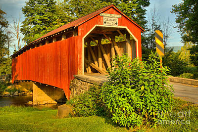 Photograph - Bushes By The Enslow Covered Bridge by Adam Jewell