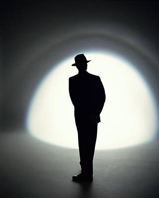 Photograph - Businessman Wearing Hat, Silhouette by Chip Simons