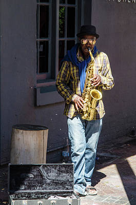 Photograph - Busker At The Old Biscuit Mill by Rob Huntley